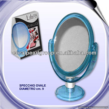 Clear Color Oval Crystal Mirror