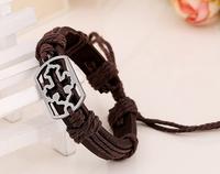 novelty cross simple style changeable cheap fresh diy genuin leather bracelets