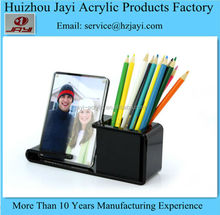 Custom OEM china manufacturer mini acrylic photo frame,cheap gifts item,multi photo frame with pen container