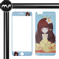 Otao ODM/OEM color tempered glass screen protector with custom design logo for iphone 6