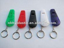 Multi-function promotional plastic whistle keychain, LED whistle flashlight