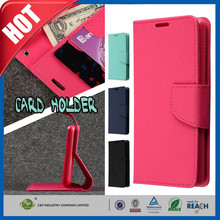 C&t nuevos de moda de lujo de cuero real tapa tapa de la caja del teléfono móvil para sony e3