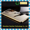 Hight quality 24K gold All in one Luxury Aluminum Acrylic cell phone case with mirror, for iphone 6 plus mirror case