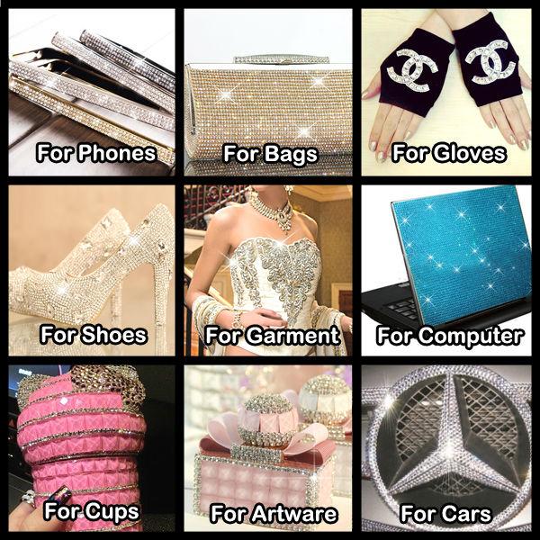 Feilang brazil plastic rhinestone banding for wedding dress