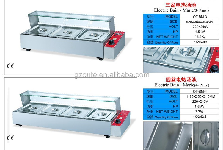 Commerical stainless seel gas hot food warmer bain marie for Sideboard petrol
