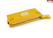 Factory Price RFID Blocking Security cow Leather Women Purse/women wallet