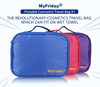 Carry on transparent PVC cosmetic clear travel toiletry bag