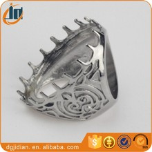 Fashion indonesia titanium ring for gemstone Stainless steel