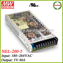 Meanwell NEL-200-5 200w power supply 5v 40a
