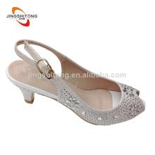 nueva mirada slingback blanco de la mujer de tacón zapatos de la corte