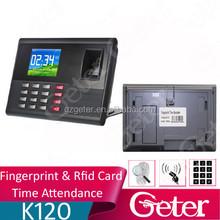 Tcp/ip Fingerprint Scanner, Fingerprint Time Attendance with RFID and Camera Fuction, Fingerprint Capacity:2,000