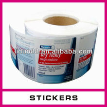 Professional supply the label label printing labels
