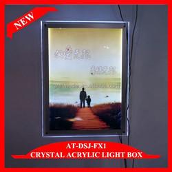 Crystal LED Light Up Picture Frame Led Light Box Optical Frames Wholesale