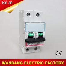 32A DP MCB DX C32 mini circuit breaker