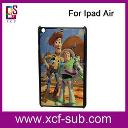 Top Quality! Good Color Effect Case for ipad air, 2D Sublimation Blank Hard Plastic cover for ipad air 2