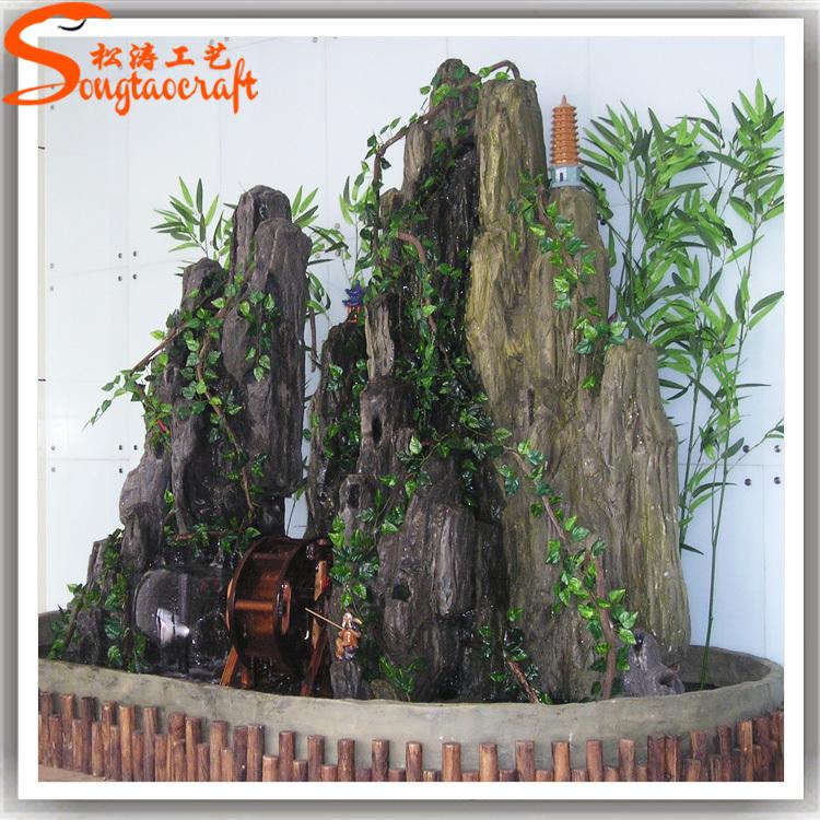 2015 made in china artificielle rochers cascade en fiber de verre rock pour j - Cascade artificielle exterieur ...