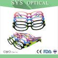 el diseño precioso de buena calidad bebé gafas de silicio marco óptico de gafas