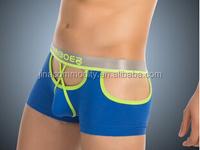 High quality blue fashion sexy gay man underwear OEM men's boxer shorts