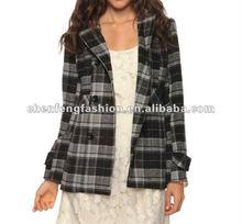 CHEFON Checkered Felt Coat CFJ051