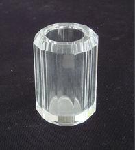 Crystal Glass Cylinder Pen Holder,Cube Custom Crystal Pen Holder For Table Stationery
