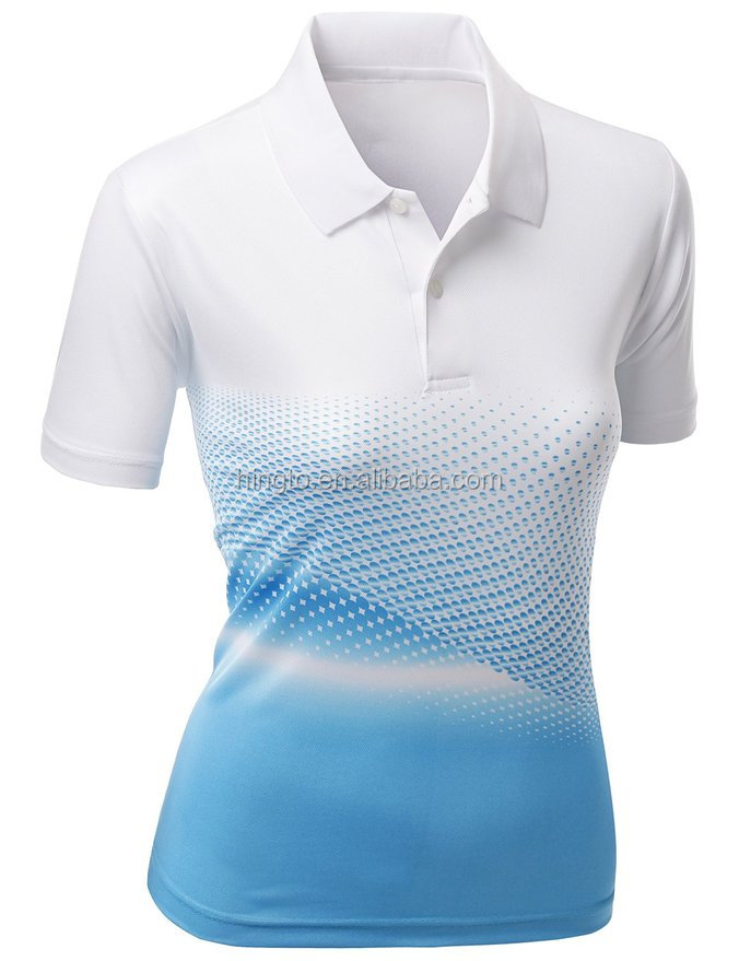Cheap wholesale custom sublimated dry fit women 39 s polo for Custom dry fit shirts