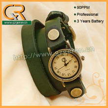 3Zo China Factory In stock Item 5 Color Long Wrap Leather Ebay Fashion Round Steampunk Women Vintage Dress Quartz Wrist watches