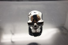 One Piece Drop Ship Fashion Jewelry Super Cool Wolf Rings Stainless Steel Punk Biker Man Ring BR8-075 US size