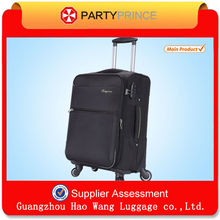 360 Degree Spinner Wheels Black Fabric Business Suitcase Stock Promotion