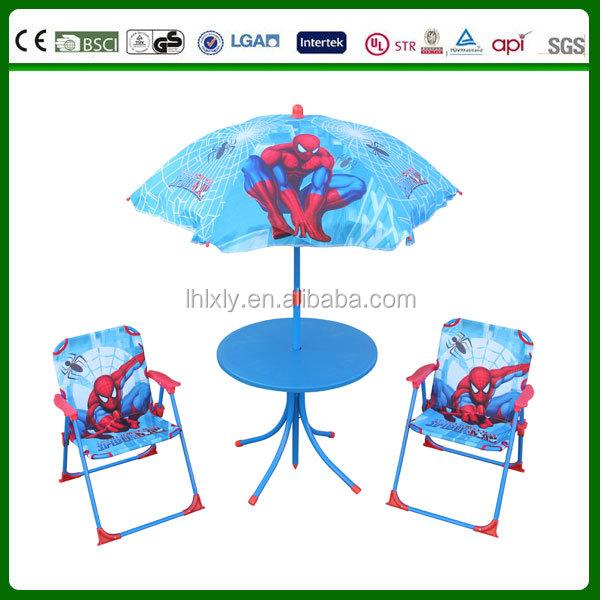 Marvel comics spiderman enfants jardin patio parasol table - Table et chaise spiderman ...