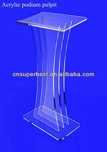 púlpito moderno de podio atril de Acrílico