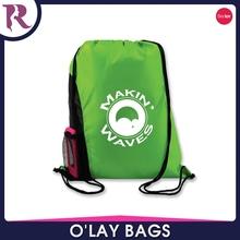 Cheap Custom Printing 210D Nylon Mesh Drawstring Bags