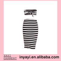 Bulk Wholesale Women Girl Lady Strapless Top+Pencil Skirt