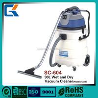 CE certifiction SC-604 plastic tank 90L capacity industrial vacuum cleaner