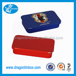 Made in China Wholesale Rectangular Shape Play Card Business Card Packaging Metal Tin Boxes