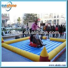 Wonderfull inflatable mechanic bull game for adlut amusement