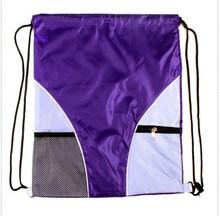2015 Female&Male Purple Novel Non Woven Drawstring Bag For Swimming GYM