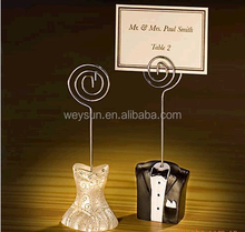Bride and Groom Place Card Holder Placecard Holder Table Decor for Wedding Party Supplies