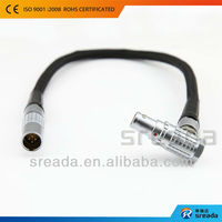 customized circular metal keyboard connector types cable used for analysis meter and seismograph