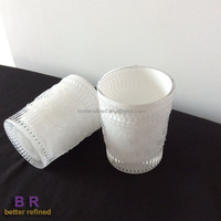 Votive glass containers for candles