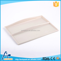 Hot selling milky ABS plastic baguette serving tray for aircraft