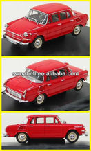 1:18 scale red color resin model car