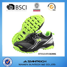 2015 new classic designed BSCI/SGS pu field sport hockey shoes
