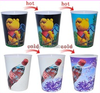 Factory custom cold color change plastic cup with straw/plastic cup change color /hot and cold plastic cup with logo printed