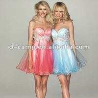 OD-302 Cute ruched sweetheart neckline adult baby doll dress patterns