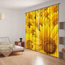 Stereoscopic 3D printing plant flowers blackout curtains