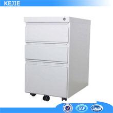 Good Price korea popular tall narrow 3-tier chest small drawer storage cabinet pedestal desk mobile drawer cabinet