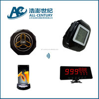 Crazy Selling restaurant call bell system long range pager system electric bell system