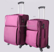 oxford fabric soft travel luggage for girls purple pink color