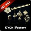 KYOK double curtain rod & curtain rod accessories factory ,crystal finial curtain rod