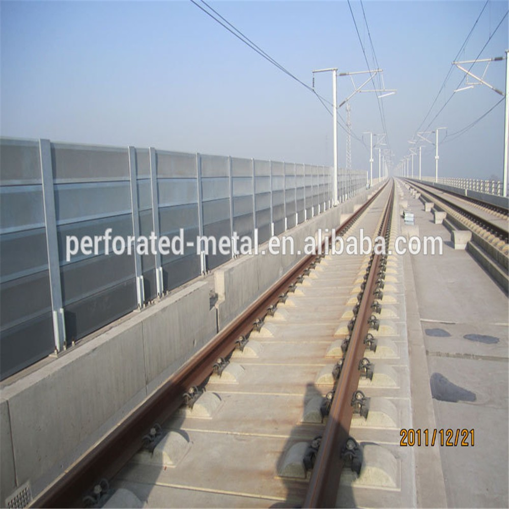Sound Barrier Wall Coustic Fencingaluminum Alloy Metal Sound Barriers Noise Barrier Road Barrier